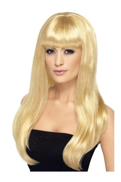 Парик блонд прямые