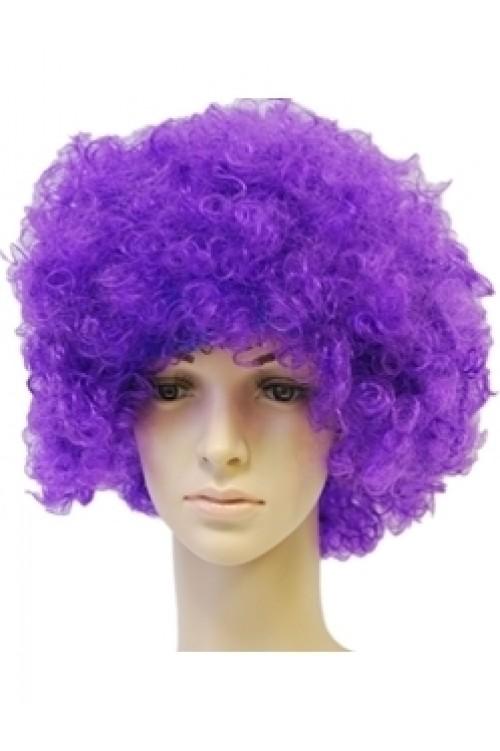Парик фиолетовый короткий кудри