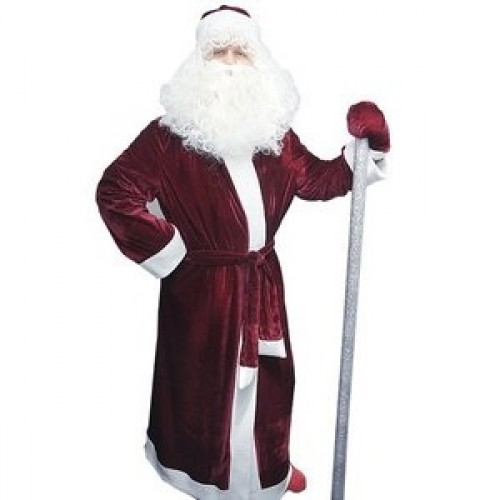 Дед Мороз в бордовом