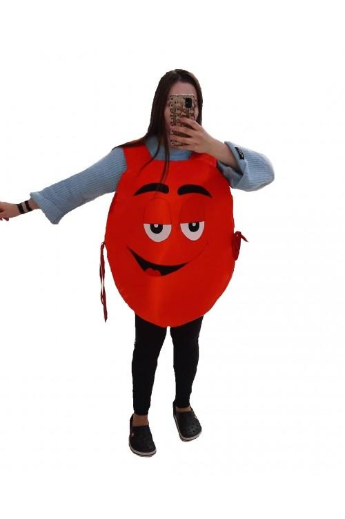Костюм M&M's красный, конфета