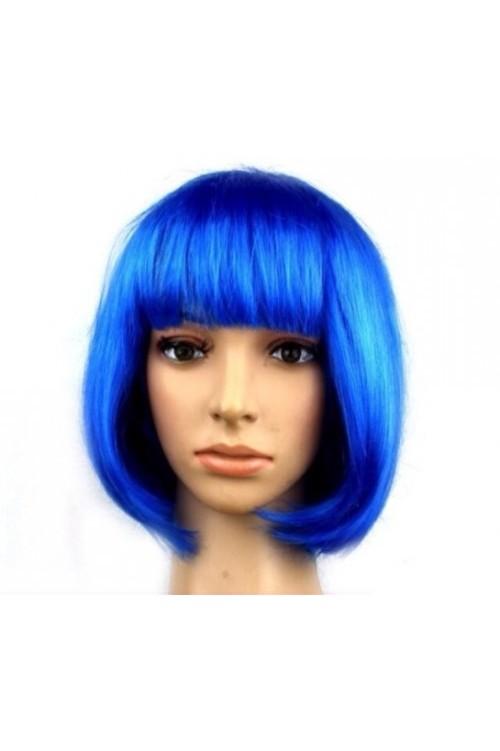 Парик каре синие