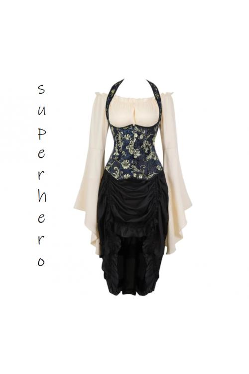 Готическое платье стимпанк, ведьма, пиратка воровка