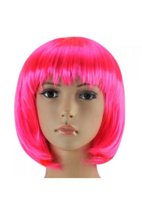 Парик каре розовый