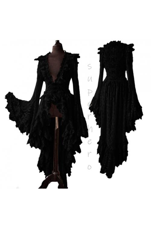 Ведьма, винтажное платье, готическое, истерическое