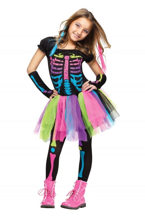 Девочка скелет