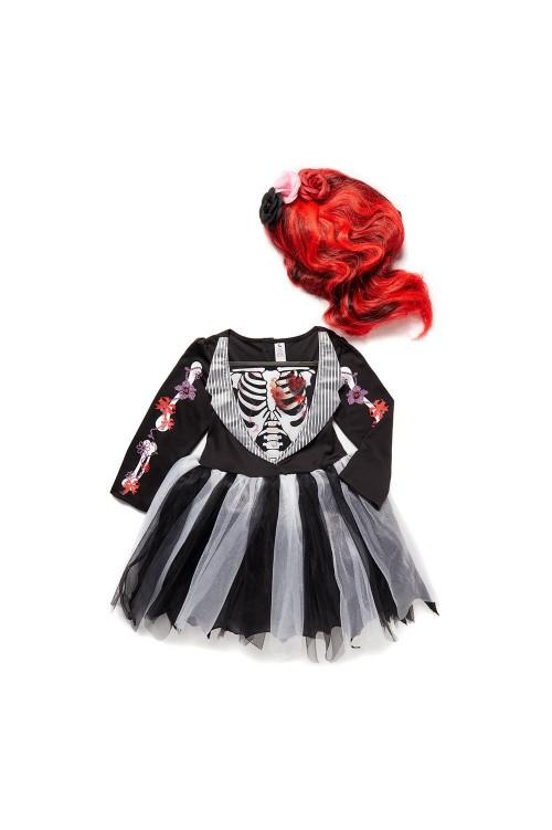 Платье скелет смокинг